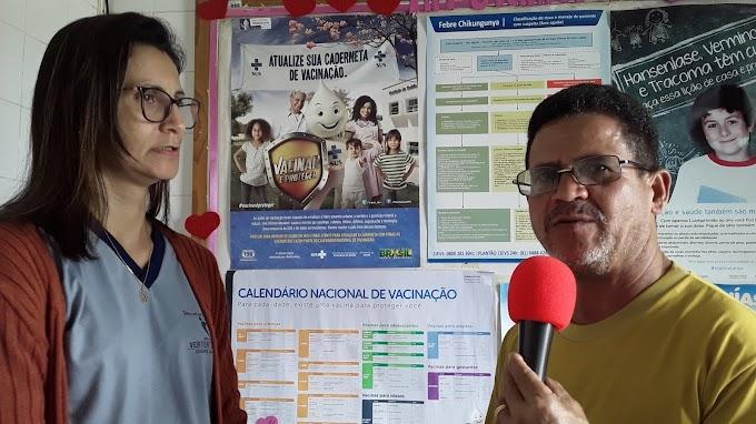 Saúde: Jucedir Lima fala ao blog sobre o cronograma de vacinas contra o Sarampo em Vertente do Lério
