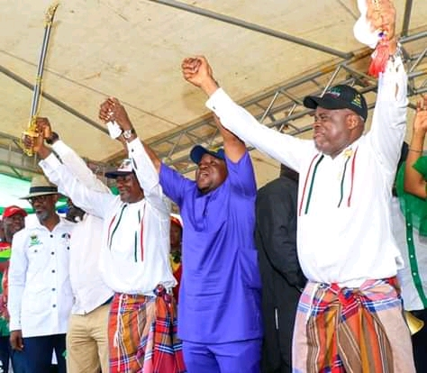 Bayelsa Guber Election: 5800 APC Members Defect To PDP Ahead Of Governorship Election