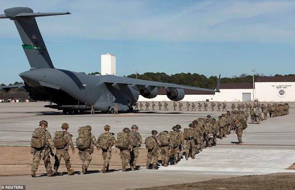 Είκοσι δύο αεροσκάφη  C-17A της Globemaster, αναχώρησαν τις ΗΠΑ στις τελευταίες 24 ώρες για τη Μέση Ανατολή