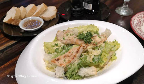 Al Dente Ristorante Italiano - Iloilo restaurant - carbonara - Bacolod blogger - salad with grilled chicken