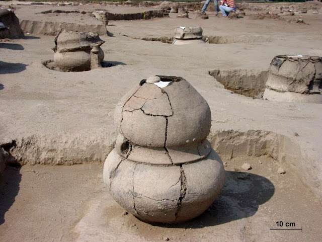 Bronze Age cemetery reveals history of a high-status woman and her twins