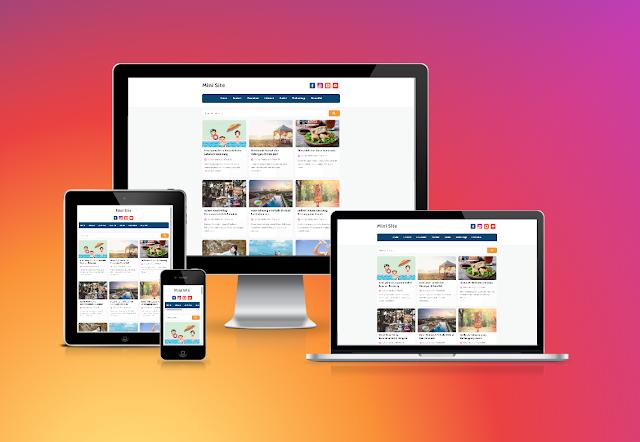 Mini Site Responsive Blogger Theme
