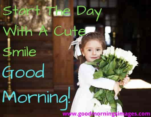 Start The Day With Cute Smile Good Morning