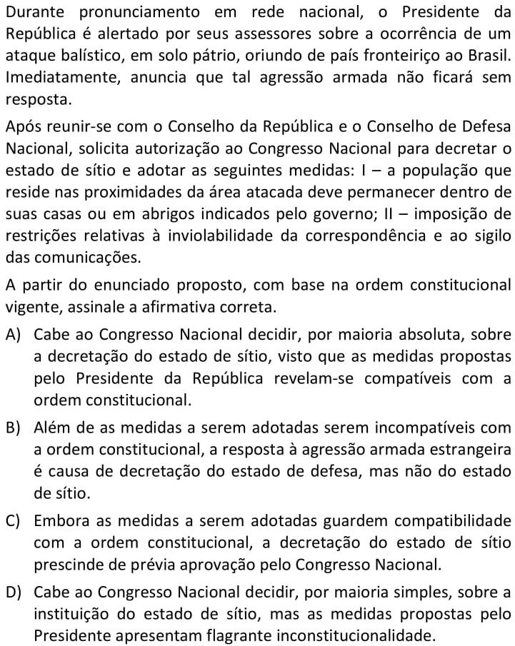 Durante pronunciamento em rede nacional, o Presidente da República é alertado por seus assessores sobre a ocorrência de um ataque balístico
