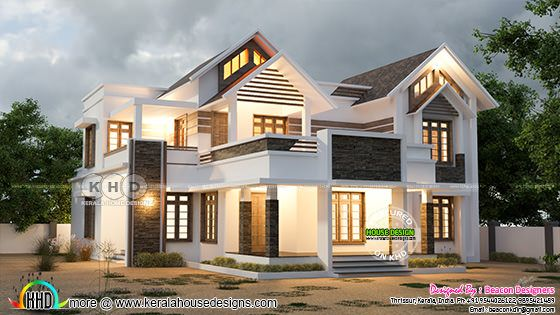 4 Bedroom modern mixed roof home