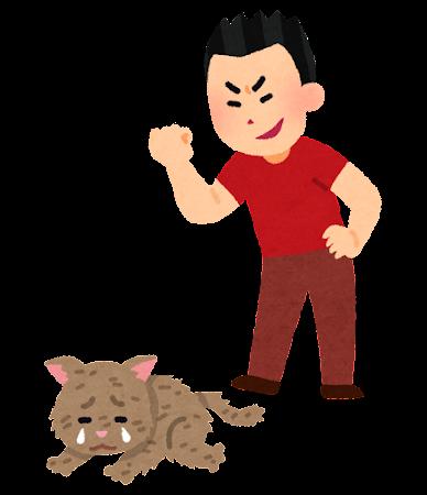 動物虐待のイラスト