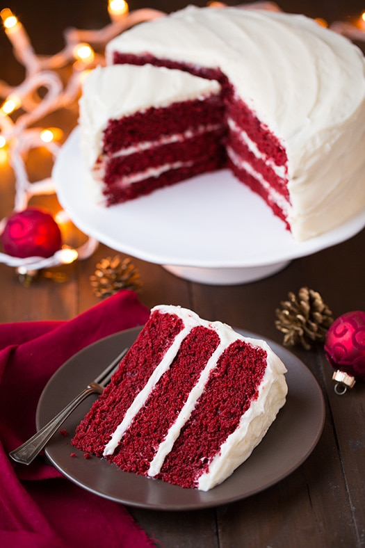 Sweet Red Velvet Cake with Cream Cheese Frosting Recipe