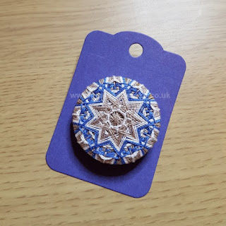 9 pointed star button by Gina Barrett of Gina-B Silkworks