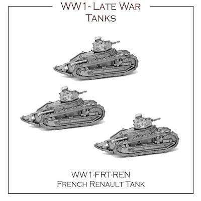 WW1-FR-REN French Late War Tank - Renault