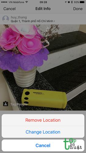 Xóa vị trí mà bạn lỡ check in trên Instagram