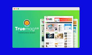 True mag blogger template Premium Free |