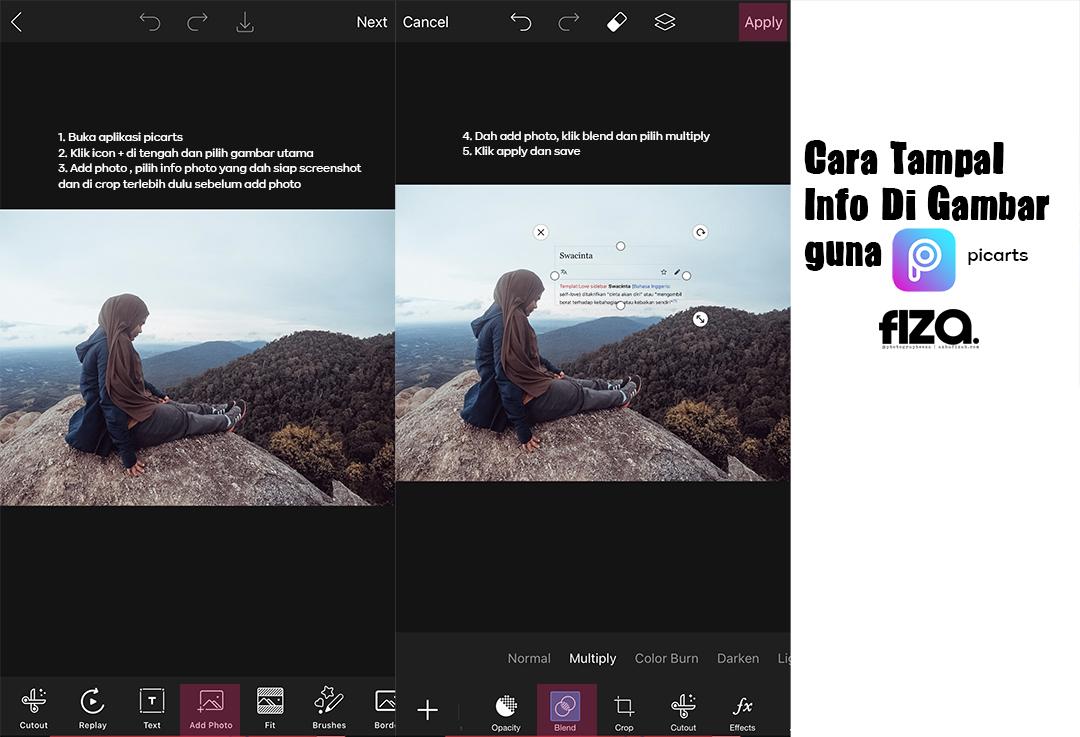 Cara Tampal Info Di Gambar Guna Aplikasi Picarts