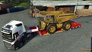Doll Vario trailer mod with Caterpillar 257M as cargo
