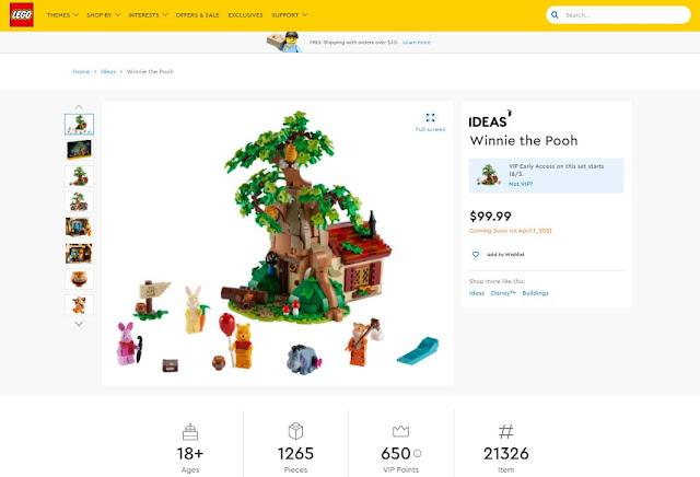 Lego-ideas-Winnie-the-Pooh-set, 迪士尼, 小熊維尼之蜂蜜樹