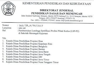 Pembentukan Lembaga Sertifikasi Profesi Pihak Kedua (LSP-P2) di SMK