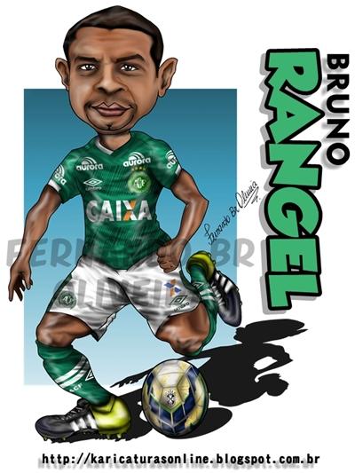 Caricatura e Homenagem ao Jogador Bruno Rangel Jogador da Chapecoense Falecido no trágico acidente de avião envolvendo o time da Chape em Novembro de 2016-#FORÇACHAPE!