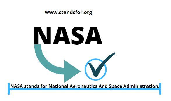 NASA-NASA stands for National Aeronautics And Space Administration.