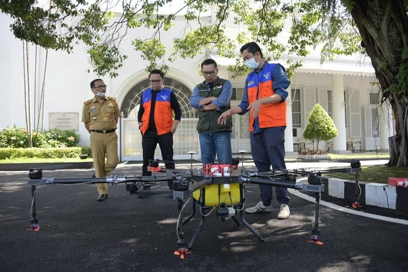 Jabar Manfaatkan Drone untuk Cegah Penyebaran COVID-19 Di 27 Kab/Kota