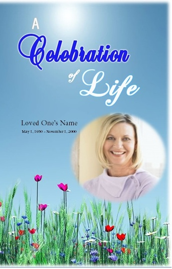 Celebration Of Life Funeral Program