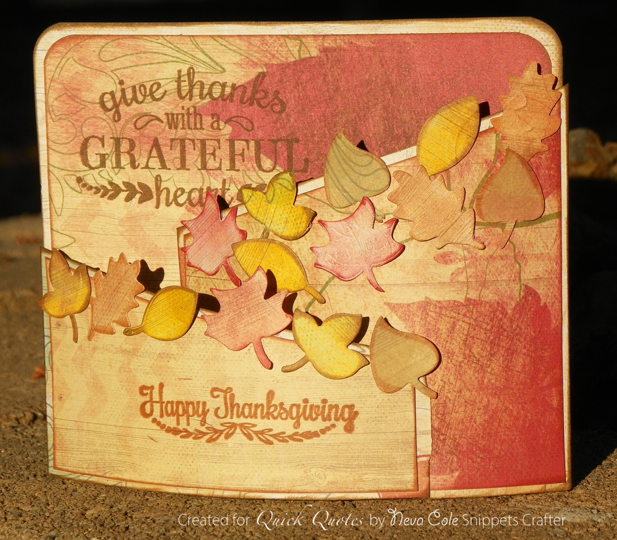 Hello Friends Of Quick Quotes Neva Here To Share A Three Dimensional Thanksgiving Card I Used The Lovely Autumn Brilliance Collection To Create This