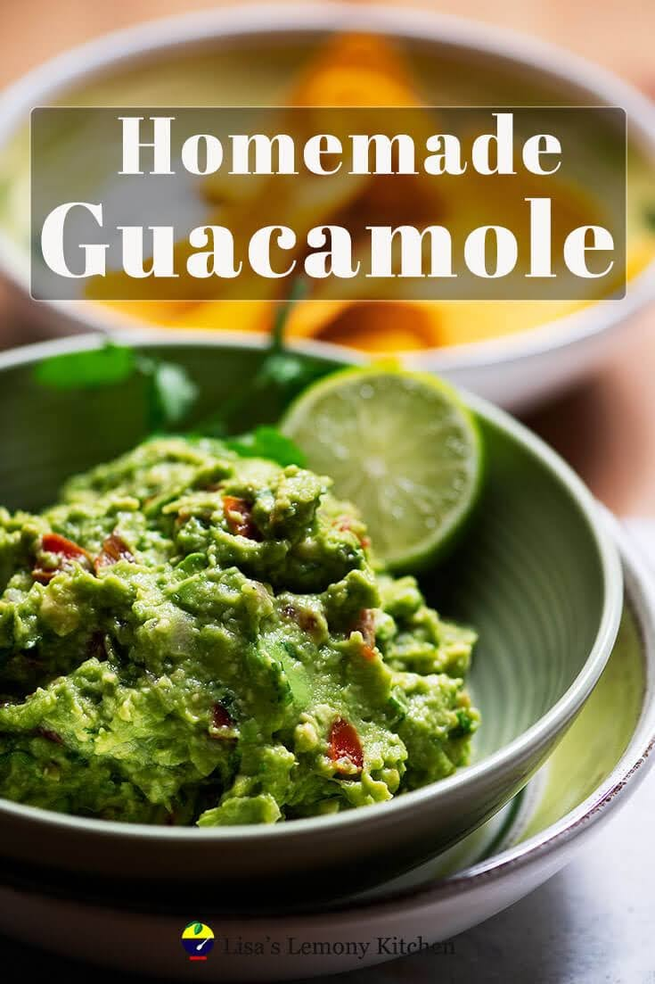 Delicious and convenient homemade guacamole recipe. Nothing is better than freshly made guacamole to serve with corn chips or as taco topping.