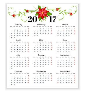 2017カレンダー無料テンプレート82