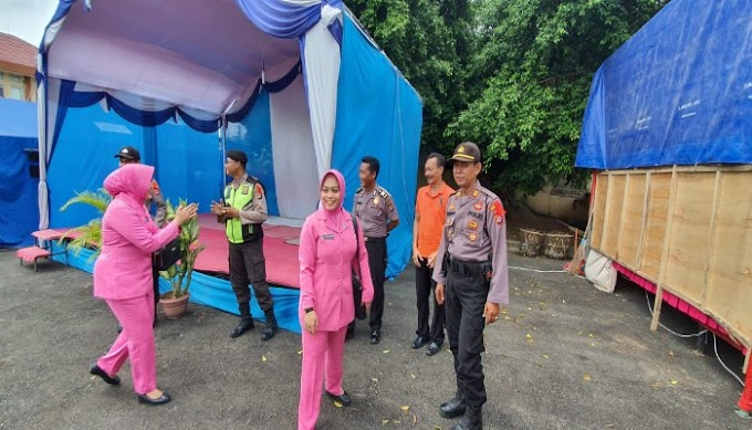 Bhayangkri Cabang Serang Kota Laksanakan Kunjungan ke Pos PAM dan Berikan Bingkisan