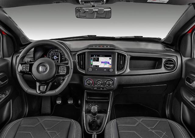 Nova Fiat Strada 2021 Volcano CD 1.3 - consumo e preço