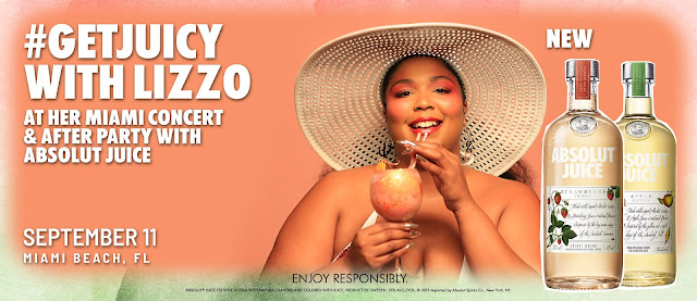 Absolut® Juice has your chance to win a trip to Miami, Florida to see Lizzo in concert, attend a cool after party and a meet and greet with Lizzo!