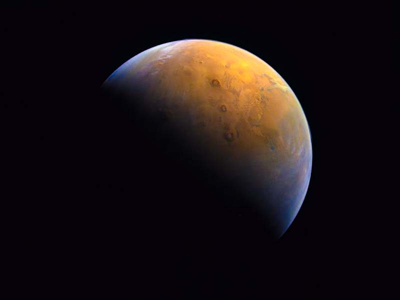 Marte: sonda dos Emirados Árabes faz primeiro registro do Planeta Vermelho