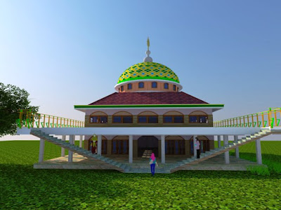 Desain Masjid Raya Abu Bakar Ash-Shiddiq GCA