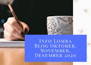 Info Lomba Blog Oktober, November, Desember 2020