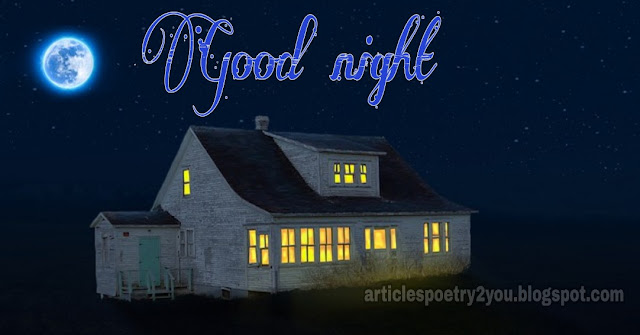 Shining sky with good night love images