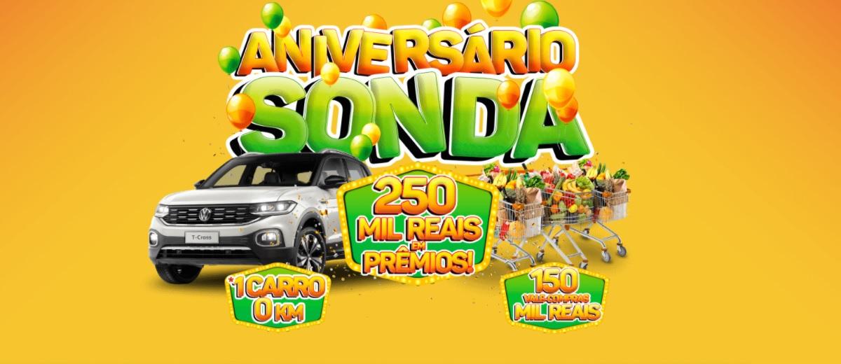 Promoção Aniversário 2020 Sonda 46 Anos - 250 Mil Reais em Prêmios Carro 0KM e Vales-Compras