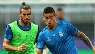 Bale & James Not Ready to Return to Madrid Squad - Zidane