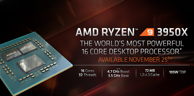 AMD Unveils Ryzen 9 3950X, Athlon 3000G, and 3rd-Generation Threadripper; Release Dates Revealed