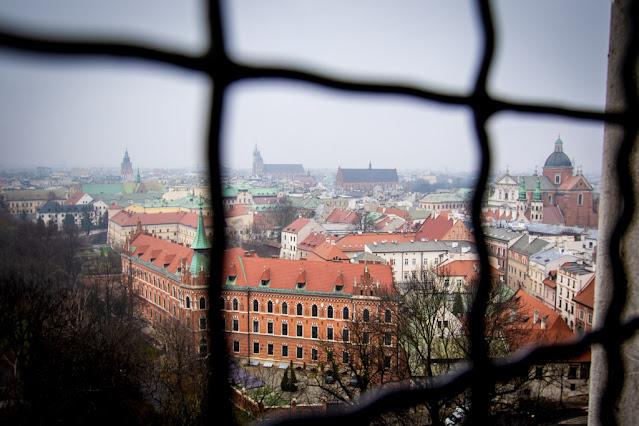Vista dalla torre della Cattedrale-Castello reale del Wawel-Cracovia