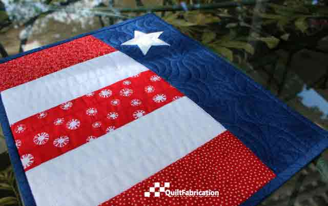 McTavish quilting on Patriotic placemats