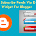 Stylish Subscribe Feeds Via E-Mail Widget For Blogger