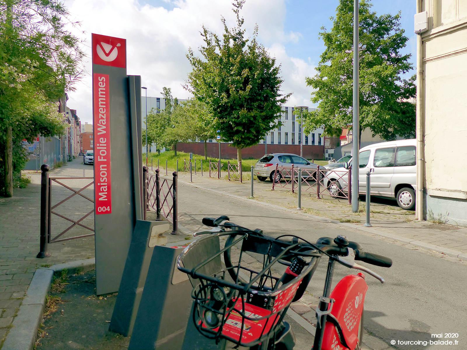 Station Vélos V'Lille Maison Folie Wazemmes, Lille 2020