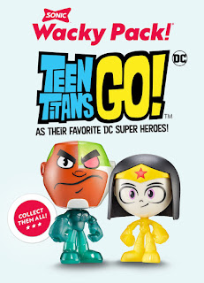 Teen Titans Go Costume Figures in Sonic Wacky Packs email ad