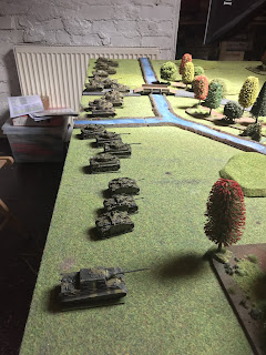 German tanks line up on the Vistula
