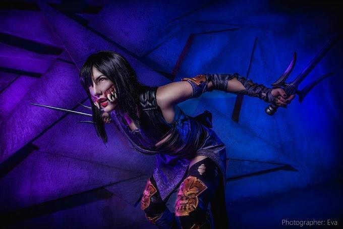 Niamash con su cosplay de Mileena de Mortal Kombat