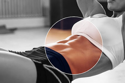 Women fitness Movement for six-pack abs