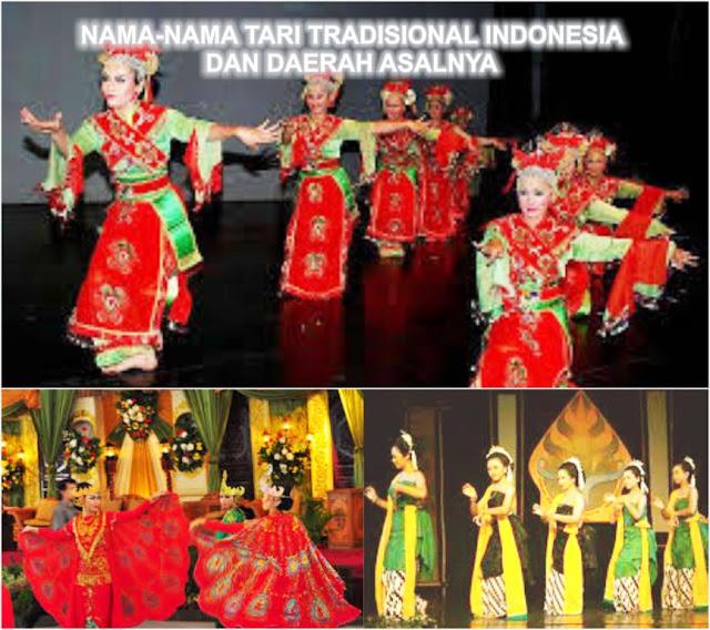nama-nama tari tradisional indonesia dan daerah asalnya