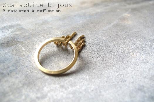 Bague vermeil chaînes Stalactite Paris bijoux cascade