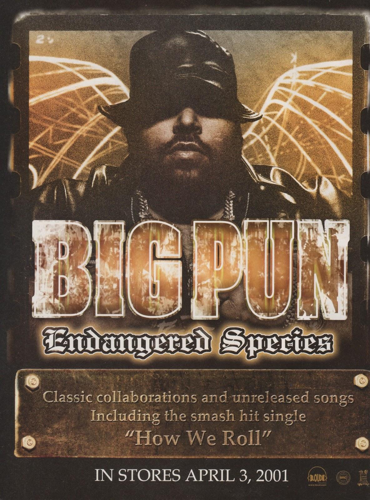 Big Pun Endangered Species Advertisement 2001