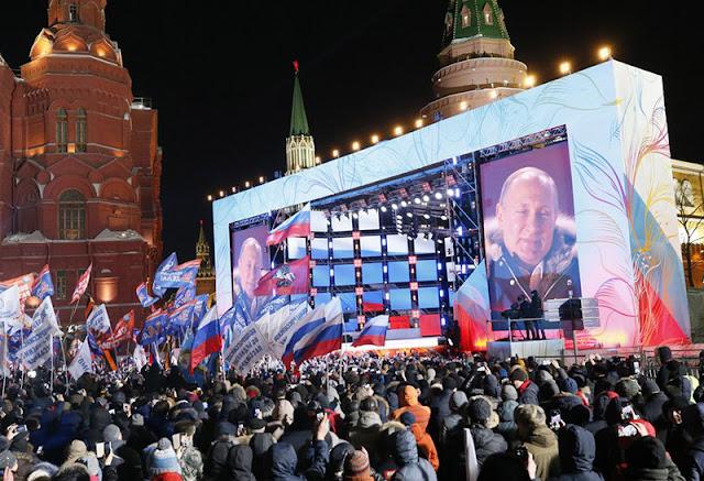 Επανεκλογή Πούτιν με ποσοστό 75,5%