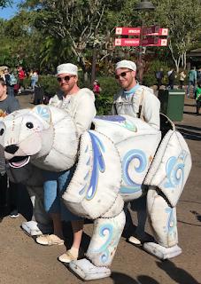 Happy Polar Bear Puppet Merry Menagerie Walt Disney World Animal Kingdom