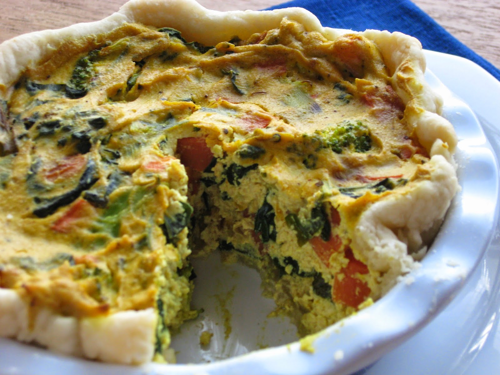 VeganForOne Broccoli Quiche for One